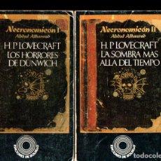 Libros de segunda mano: H. P. LOVECRAFT : NECRONOMICON - HORRORES DE DUNWICH / SOMBRA MÁS ALLÁ DEL TIEMPO (BARRAL, 1976). Lote 247490745