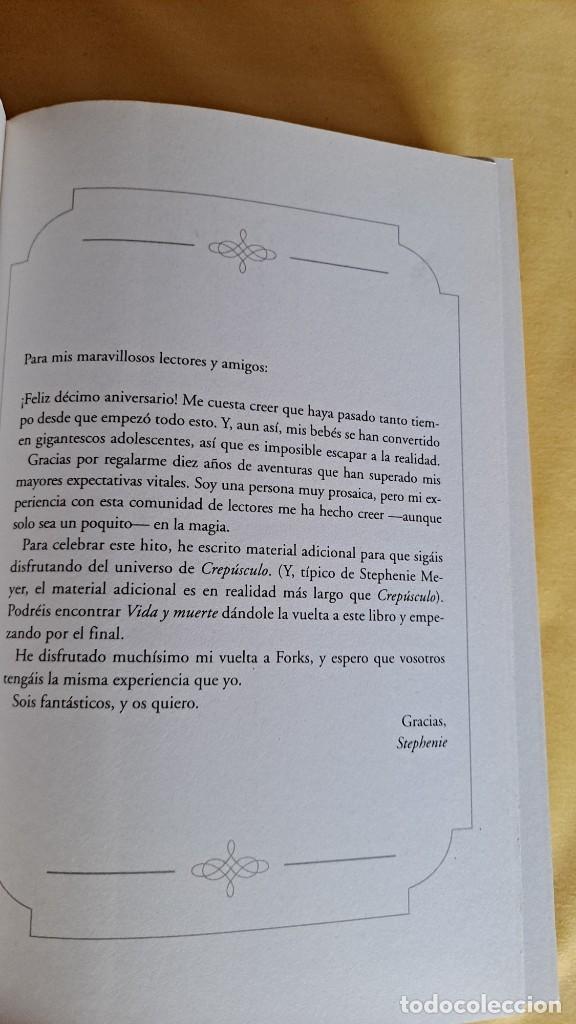 Libros de segunda mano: STEPHENIE MEYER - CREPUSCULO, EDICION ESPECIAL DECIMO ANIVERSARIO - ALFAGUARA 2015 - Foto 4 - 248843415