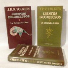 Libros de segunda mano: TOLKIEN. CUENTOS INCONCLUSOS I, II, III Y IV. EDITORIAL MINOTAURO. Lote 249034600