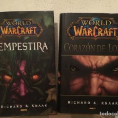 Libros de segunda mano: PACK LIBROS WORLD OF WARCRAFT - TEMPESTIRA / CORAZÓN DE LOBO - PANINI COMICS - RICHARD KNAAK. Lote 251009435