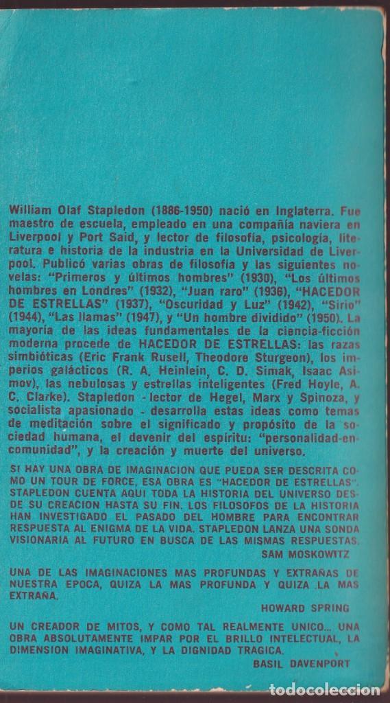 Libros de segunda mano: HACEDOR DE ESTRELLAS - OLAF STAPLEDON - MINOTAURO 1971 ( BUENOS AIRES ) - Foto 2 - 251837200