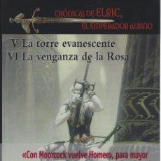 Libros de segunda mano: MICHAEL MOORCOCK. ELRIC. TOMO DOBLE. EDHASA. FANTASY NEBULAE. TAPA DURA. EDIC.LUJO CON SOBRECUBIERTA. Lote 252590880