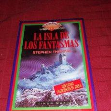 Libros de segunda mano: STEPHEN THRAVES - LA ISLA DE LOS FANTASMAS , LIBRO JUEGO. Lote 254277475