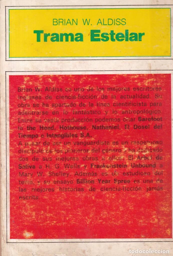Libros de segunda mano: TRAMA ESTELAR - BRIAN W. ALDISS - EDICIONES FANTACIENCIA 1976 - Foto 2 - 254341585