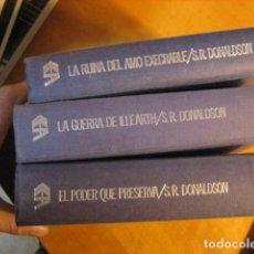 Libros de segunda mano: CRONICAS DE THOMAS COVENANT EL INCREDULO ( 3 VOL.).STEPHEN R.DONALDSON EL PODER QUE PRESERVA. Lote 254360790