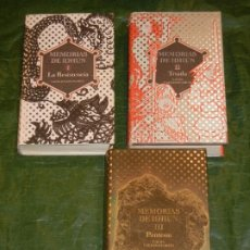 Libros de segunda mano: LAURA GALLEGO - TRILOGIA MEMORIAS DE IDHUN - EDICIONES SM. Lote 254384500