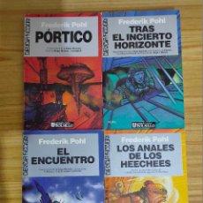 Libros de segunda mano: SAGA HEECHEE COMPLETA (FREDERIK POHL) ULTRAMAR CIENCIA FICCIÓN - 1ª EDICIÓN - NUEVOS. Lote 254461115