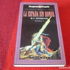 Libros de segunda mano: ESPADA SIN HONOR TRILOGIA PENHALIGON 1 ( HEINRICH ) ¡COMO NUEVO! DUNGEONS & DRAGONS FANTASIA. Lote 257594355