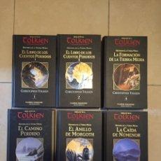 Libros de segunda mano: BIBLIOTECA TOLKIEN - HISTORIA DE LA TIERRA MEDIA - 6 VOLÚMENES - HOBBIT EL SEÑOR DE LOS ANILLOS. Lote 262735840