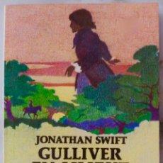 Libros de segunda mano: GULLIVER EN LILIPUT. JONATHAN SWIFT. ILUSTRACIONES DE FRANCISCO SOLE. LIBRO ESPASA-CALPE. Lote 262936840