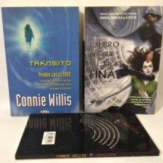 Libros de segunda mano: CONNIE WILLIS. LOTE DE 3 LIBROS. TRÁNSITO. INFILTRADO. LIBRO DEL DÍA DEL JUICIO FINAL.. Lote 263809600