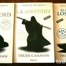 Libros de segunda mano: CRÓNICAS DEL MAGO NEGRO 3T POR TRUDI CANAVAN DE ED. RANDOM HOUSE MONDADORI EN BARCELONA 2010. Lote 265941688