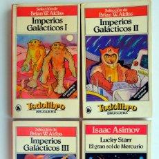Libros de segunda mano: IMPERIOS GALÁCTICOS I, II III. RELATOS RECOPILADOS POR BRIAN W. ALDISS. LUCKY STARR. ASIMOV.. Lote 269157258