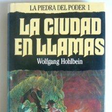Libros de segunda mano: LA CIUDAD EN LLAMAS - LA PIEDRA DEL PODER 1 - WOLFGANG HOHLBEIN - EDITORIAL TIMUN MAS. 1990. Lote 269337748
