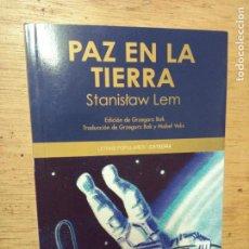 Libros de segunda mano: STANISLAW LEM: PAZ EN LA TIERRA. Lote 277518073