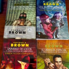 Libros de segunda mano: FREDRIC BROWN. CIENCIA FICCIÓN COMPLETA 1 A 4. NUEVOS.. Lote 277533048