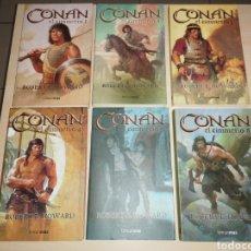 Libros de segunda mano: CONAN EL CIMMERIO - 6 TOMOS (COMPLETA) - ROBERT E. HOWARD - TIMUNMAS. Lote 279450623