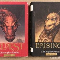 Libros de segunda mano: CHRISTOPHER PAOLINI. ELDEST Y BRISINGR. ROCA EDITORIAL.. Lote 285602693