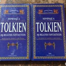 Libros de segunda mano: HOMENAJE A TOLKIEN, 19 RELATOS FANTÁSTICOS VOL. 1 Y 2 (SELECCIÓN DE MARTIN H. GREENBERG) (TIMUN MAS). Lote 288584838