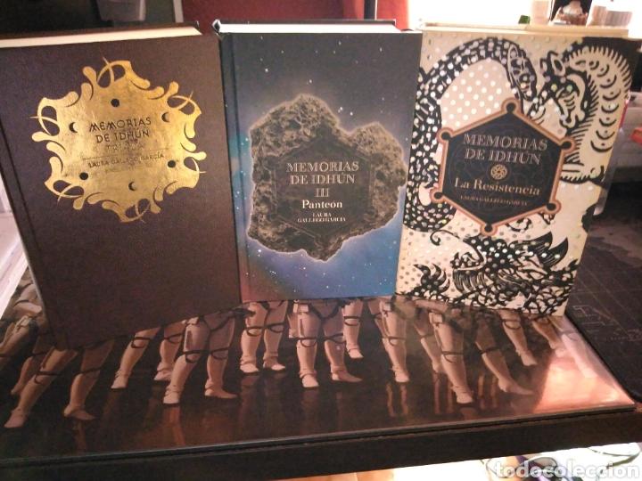 Libros de segunda mano: Memorias de Idhún trilogía Laura Gallego García panteón triada la resistencia - Foto 2 - 289443873