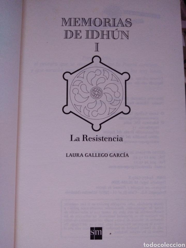 Libros de segunda mano: Memorias de Idhún trilogía Laura Gallego García panteón triada la resistencia - Foto 12 - 289443873
