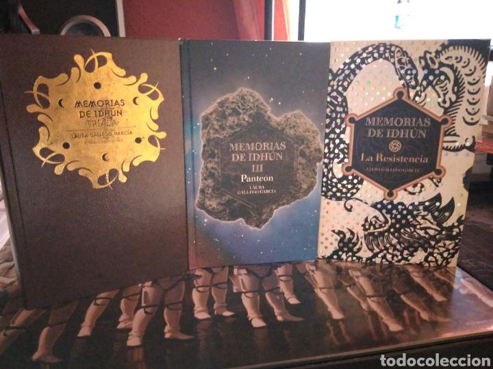 MEMORIAS DE IDHÚN TRILOGÍA LAURA GALLEGO GARCÍA PANTEÓN TRIADA LA RESISTENCIA (Libros de Segunda Mano (posteriores a 1936) - Literatura - Narrativa - Ciencia Ficción y Fantasía)