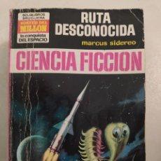 """Libros de segunda mano: BOLSILIBRO CIENCIA FICCION LA CONQUISTA DEL ESPACIO 161 """"RUTA DESCONOCIDA"""" MARCUS SIDEREO. Lote 289625578"""