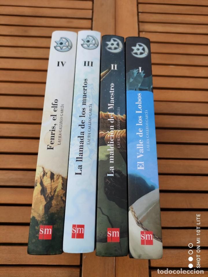 Libros de segunda mano: CRONICAS DE LA TORRE, TOMOS I, II, III Y IV, LAURA GALLEGO GARCIA, TETRALOGIA COMPLETA, SM - Foto 2 - 289628063