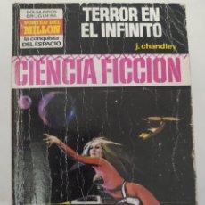 """Libros de segunda mano: BOLSILIBRO CIENCIA FICCION LA CONQUISTA DEL ESPACIO 153 """"TERROR EN EL INFINITO"""" J. CHANDLEY. Lote 289630458"""