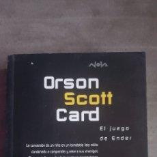 Libros de segunda mano: LIBRO EL JUEGO DE ENDER (EDICIONES B,S.A., 1997) AUTOR ORSON SCOTT CARD. Lote 290110938