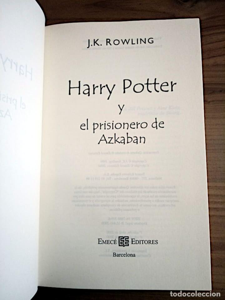 Libros de segunda mano: HARRY POTTER Y EL PRISIONERO DE AZKABAN. ROWLING, J. K. EMECE. 4 ª ED. 2000 NUEVO. - Foto 3 - 290115488