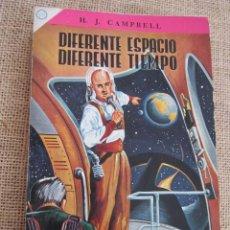 Libros de segunda mano: DIFERENTE ESPACIO, DIFERENTE TIEMPO. H. J. CAMPBELL. NOVARO CIENCIA FICCIÓN, MEXICO 1955. Lote 295494528