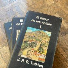 Libros de segunda mano: EL SEÑOR DE LOS ANILLOS 3 VOL. - J.R.R. TOLKIEN - MINOTAURO (1980) ENVÍO GRATIS. Lote 297034038