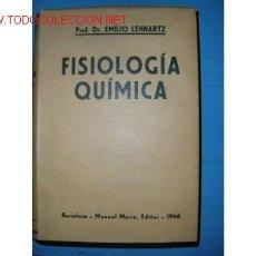 Libros de segunda mano de Ciencias: 1946. FISIOLOGIA QUIMICA. ILUSTRADO.. Lote 842791
