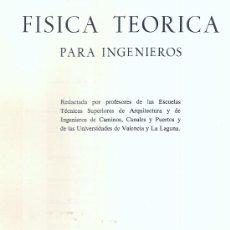 Libros de segunda mano de Ciencias: FÍSICA TEÓRICA PARA INGENIEROS. TOMO I. (REUNIÓN DE PROFESORES, 1968). Lote 18081935