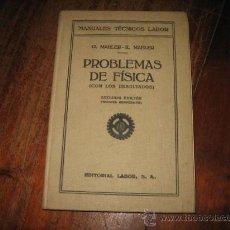Libros de segunda mano de Ciencias: PROBLEMAS DE FISICA . Lote 8057498