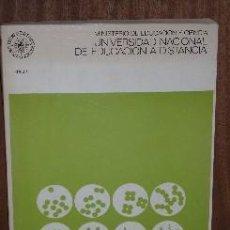 Libros de segunda mano: BIOLOGÍA GENERAL POR SALUSTIO ALVARADO DE LA UNED EN MADRID 1976. Lote 25965536