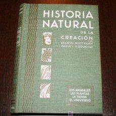 Libros de segunda mano: HISTORIA NATURAL DE LA CREACIÓN - LOS ANIMALES, LAS PLANTAS, LA TIERRA, EL UNIVERSO- EDICIONES HYMSA. Lote 26598081