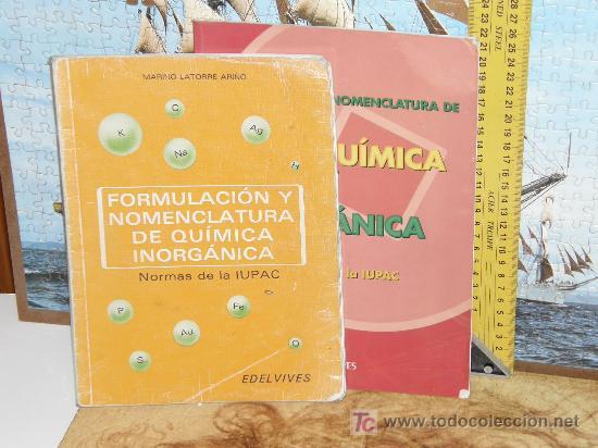 FORMULACION Y NOMENCLATURA DE QUIMICA ORGANICA E INORGANICA EDELVIVES (Libros de Segunda Mano - Ciencias, Manuales y Oficios - Física, Química y Matemáticas)