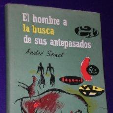 Libros de segunda mano: EL HOMBRE A LA BUSCA DE SUS ANTEPASADOS. NOVELA DE LA PALEONTOLOGÍA. . Lote 27109911