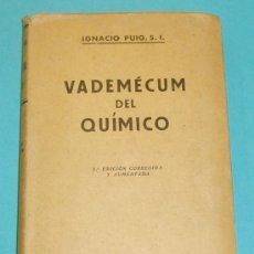 Second hand books of Sciences - VADEMÉCUM DEL QUÍMICO. IGNACIO PUIG - 25300261