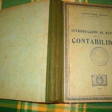 Libros de segunda mano de Ciencias: INTRODUCCIÓN AL ESTUDIO DE LA CONTABILIDAD, ALFONSO MIQUEL VILANOVA, 1944, CULTURAL. Lote 26972987