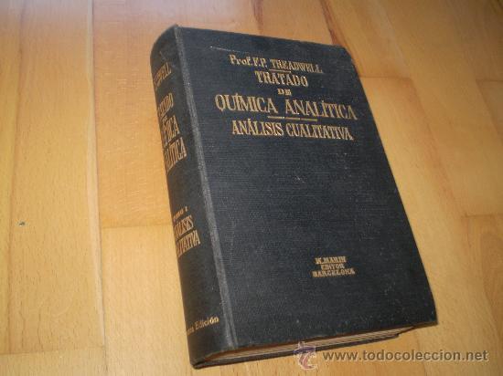 TRATADO DE QUIMICA ANALITICA (Libros de Segunda Mano - Ciencias, Manuales y Oficios - Física, Química y Matemáticas)