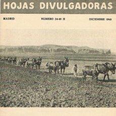 Libros de segunda mano: HOJAS DIVULGADORAS, MINISTERIO AGRICULTURA, DICIEMBRE 1948, NUM. 24-48 H, ALTERNATIVAS DE SECANO. Lote 17373535