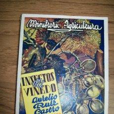 Libros de segunda mano: INSECTOS DEL VIÑEDO-AURELIO RUIZ CASTRO-1943-SECCIÓN DE PUBLICACIONES, PRENSA Y PROPAGANDA. Lote 17577487