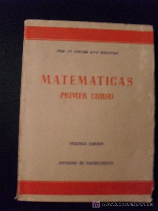 MATEMATICAS PRIMER CURSO DE BACHILLERATO (Libros de Segunda Mano - Ciencias, Manuales y Oficios - Física, Química y Matemáticas)