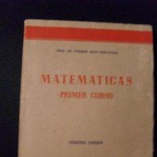 Libros de segunda mano de Ciencias: MATEMATICAS PRIMER CURSO DE BACHILLERATO. Lote 17571550
