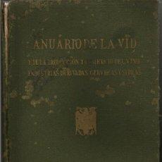 Libros de segunda mano: 1946-47 ANUARIO DE LA VID , PRODUCCION Y COMERCIO DEL VINO, INDUSTRIAS DERIVADAS, CERVEZAS Y SIDRAS. Lote 27519377
