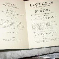Libros de segunda mano de Ciencias: LECCIONES DE POTENCIA RESTITUTIVA O EL RESORTE. ROBERT HOOKE.. Lote 26766298