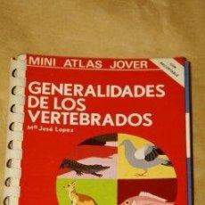 Libros de segunda mano: MINI ATLAS JOVER (GENERALIDADES DE LOS VERTEBRADOS ). Lote 24721189